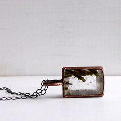 Gemstone Pendant Quartz Epidote Pendant Grass by MidwestAlchemy, $88.50