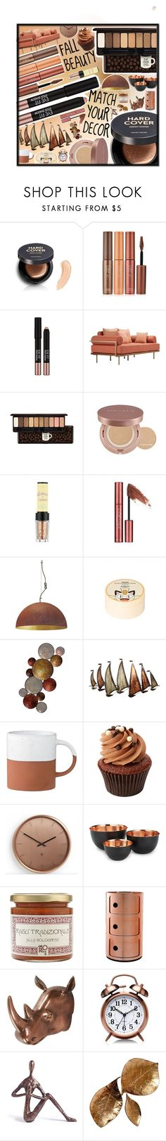 """Fall BEAUTY: Match your DECOR!"" by beanpod ❤ liked on Polyvore featuring beauty, Holika Holika, Etude House, Missha, Umbra, Home Essentials, Kartell, Moe's and Danya B"
