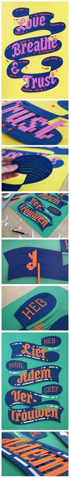 Typo Poster, Papercut http://bartvollebregt.com/projects/lbt