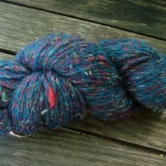 Wool and Recycled Silk yarn - Dark Blue 15 on Etsy, $6.75