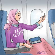 Duckscarves instagram illustration by Soefara