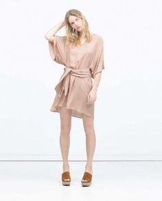 Zara Jacquard Viscose Dress