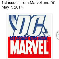 Check out the 1st issues that came out today from Marvel and DC Comics! http://www.ctrlaltnerd.com/2014/05/1st-issues-from-marvel-and-dc-may-7-2014.html