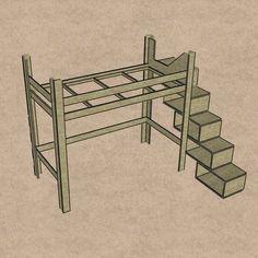 Hochbett bauen: Wir haben eine Hochbett-Bauanleitung für Sie – effektive Raumnutzung und erhabenes Schlafen.