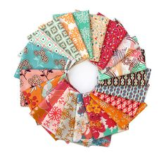 Pat Bravo - Summerlove for Art Gallery Fabrics  in both Blue Crush and Sunkissed color palettes.