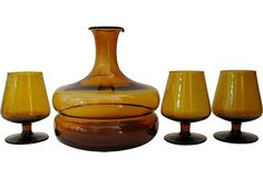 Amber Decanter vintage, from One Kings Lane!