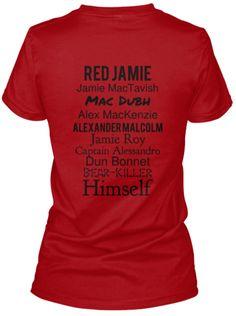 RedJamie JamieMacTavish MacDubh AlexMacKenzie AlexanderMalcolm JamieRoy CaptainAlessandro DunBonnet Bear-Killer Himself