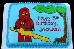 Lego Ninjago cake : Image from clipart found on the internet