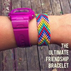 Let's just say... I've made a few friendship bracelets this summer. I'd say I'm an expert. When I get tired of making a certain one, I ...