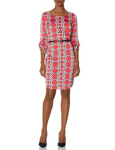 Printed Belted Shift Dress | THE LIMITED - * nice print *