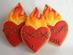 Sacred Heart of Jesus cookies by One Tough Cookie
