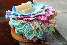Almost Lost Washcloth Knitting Pattern - Gorgeous! #knit