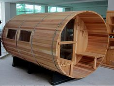 Outdoor Barrel Garden Sauna Room