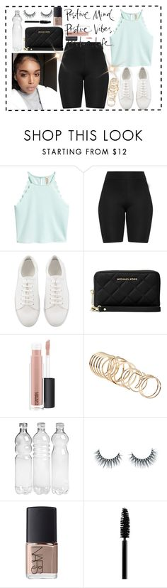 """""""Positivity"""" by tiffy54 ❤ liked on Polyvore featuring Michael Kors, MAC Cosmetics, ALDO, Unicorn Lashes and NARS Cosmetics"""