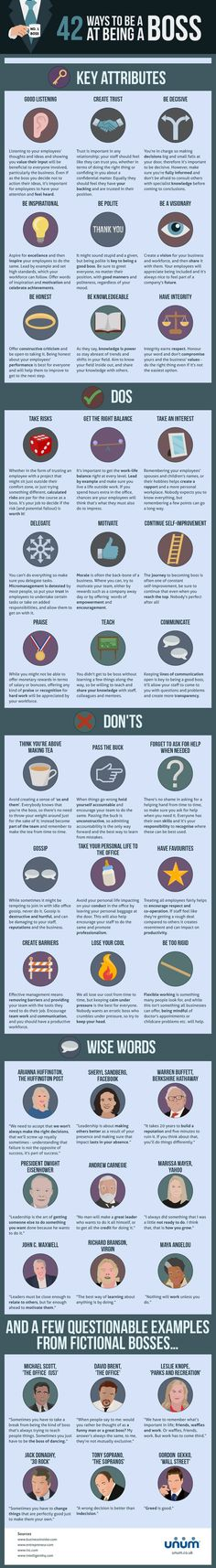 Starting a New #Business - 42 Tips to Become a Great Boss #Infographic #Startup