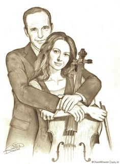 "Phil Coulson & Audrey ""the Cellist"" #Pheels by ChaosNDisaster"
