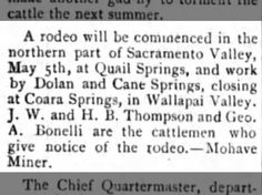 J. W. Thompson & H. B. Thompson~ Cattlemen give notice of the rodeo.