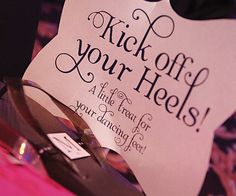 Clever sign for a flip-flop basket! Also, how neat is that typography?