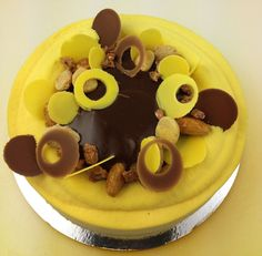 The first of Christophe Adam's entremets at Savour Chocolate and Patisserie School, 'Bonheur'. #entremets