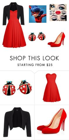 """Miraculous Ladybug"" by laryssa2120 ❤ liked on Polyvore featuring Betsey Johnson, Phase Eight and Christian Louboutin"