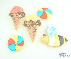 Sommergrüße aus der Keksdose- tolle Ideen für Kekse und Plätzchen bunt dekoriert.