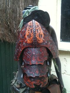 Leather Armour by flashbangleather on Etsy, $700.00... had to repin because of the details! Can't imagine carving all that!