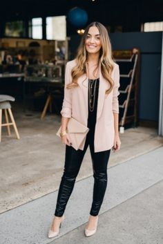Cute casual chic blazer outfits for work spring & summer 2017 1