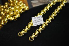 Wonderful Gold Chain Jewelry Supplies $5.00 SouthernSisAntiques