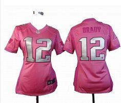 ... Women Nike New England Patriots 12 Tom brady pink love jerseys ... c095470e4