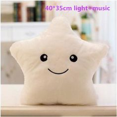 Baby Pillow Night Light Star Paw Pillow Cute Led Luminous Star Toy for Kids Halloween Christmas Gift Birthday Party Bedding Set