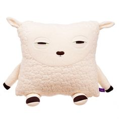 Finally, a pillow that feels the same way about sleep as I do. Velvet Moustache sheep pillow: sleepy like me