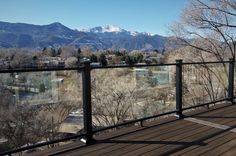 Can't complain when your backyard has a view like this! ⛰ Check out glass deck railing options from Fortress. #glassdeckrailing #beautifulpatio #deckideas #backyardviews #railingsolution #backyard #railing #outdoorinspiration #glassrailing #views #patiowithviews #cozypatio #decksandpatios Deck Railing Systems, Deck Railings, Stair Railing, Cozy Patio, Glass Railing, Open Up, Outdoor Living, Backyard, Colorado