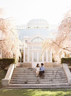 New York City Botanical Garden Engagement from Judy Pak Photography  Read more - http://www.stylemepretty.com/new-york-weddings/2013/09/09/new-york-city-botanical-garden-engagement-from-judy-pak-photography/