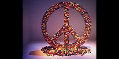 A peace sign made of legos (@ westartariot via Instagram)