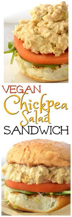 Vegan Chickpea Salad Sandwich recipe is a creamy, sweet, sandwich salad with a hint of garlic. Gluten-free & Vegan. Only 9 ingredients.