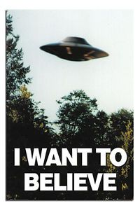 I Want To Believe X-Files UFO Poster New - Maxi Size 36 x 24 Inch | eBay