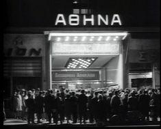 ΑΘΗΝΑ Πατησίων (Αγγελοπούλου), έτη λειτουργίας: 1934 - Αρχικά θερινός. Το 1960 μετατράπηκε σε χειμερινό. Old Photos, Broadway Shows, Nostalgia, Nyc, City, Vintage, Old Pictures, Vintage Photos, Old Photographs