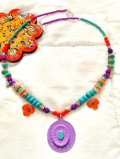 SALE GYPSY'S SPRING Necklace Bohemian inspired Necklace by Nezihe1