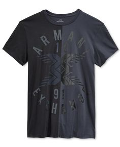 51e6b55bb8 Armani Exchange Men s Split Up Logo T-Shirt   Reviews - T-Shirts - Men -  Macy s
