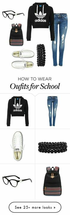 Ways To Stay Casual or Cool Ideas to Improve Your Style. Cute adidas look. What to wear in school - Back to School Outfits Back School Outfits, First Day Of School Outfit, College Outfits, Outfits For Teens, Trendy Outfits, Fall Outfits, Emo Outfits, Batman Outfits, Rock Outfits