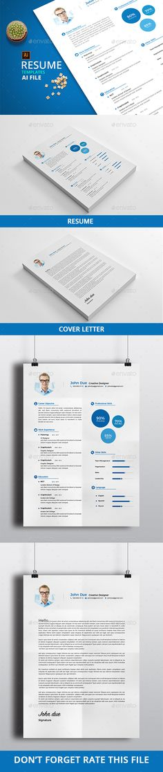 Illustrator Resume Templates Resume  Template Professional Resume Template And Professional
