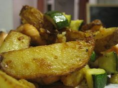 Tefal Actifry Recipe for Potato wedges, Salmon and Courgettes