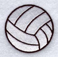 Volleyball design (L1006) from www.Emblibrary.com