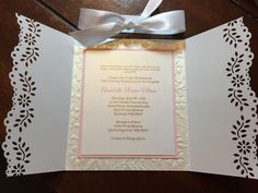 Baptism / First Communion Invitations. Set of by HandcraftedByW