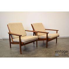 Danish Style Mid-Century Modern Armchairs