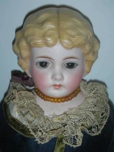 Lovely Antique Germany Parian Doll Glass Eyes Original Dress Estate | eBay
