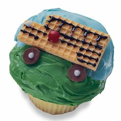 School Bus Cupcakes
