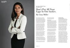 ''Don't put all your eggs in one basket'', by Gina Miller, Founder SCM Private, a wealth management consultancy.