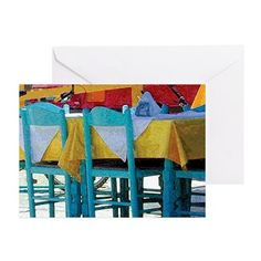 Cafe Tabletop Greeting Cards (Pk of Blank Cards, Tabletop, Postcards, Stamps, Greeting Cards, Design, Seals, Table