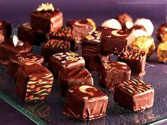 Bonbon chocolat fourré à la ganache